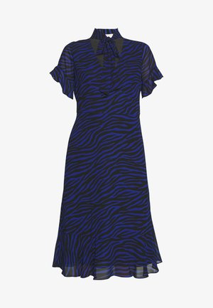 MIX TIE DRESS - Day dress - black/twilight blue