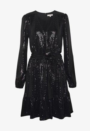 MIRROR DOT CROSS OVER DRESS  - Cocktail dress / Party dress - black/silver
