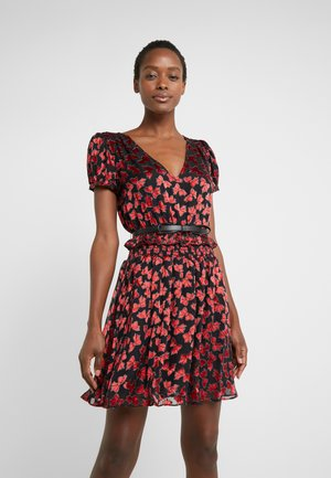 BOLD BOW MIX DRESS - Cocktail dress / Party dress - scarlet