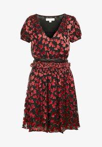 MICHAEL Michael Kors - BOLD BOW MIX DRESS - Koktejlové šaty/ šaty na párty - scarlet - 4