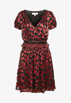 BOLD BOW MIX DRESS - Vestido de cóctel - scarlet