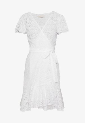 LACE WRAP DRESS - Vardagsklänning - white