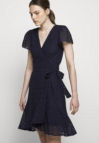 MICHAEL Michael Kors - LACE WRAP DRESS - Denní šaty - true navy - 3