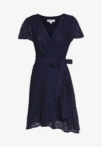 MICHAEL Michael Kors - LACE WRAP DRESS - Denní šaty - true navy - 6