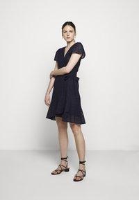 MICHAEL Michael Kors - LACE WRAP DRESS - Denní šaty - true navy - 1