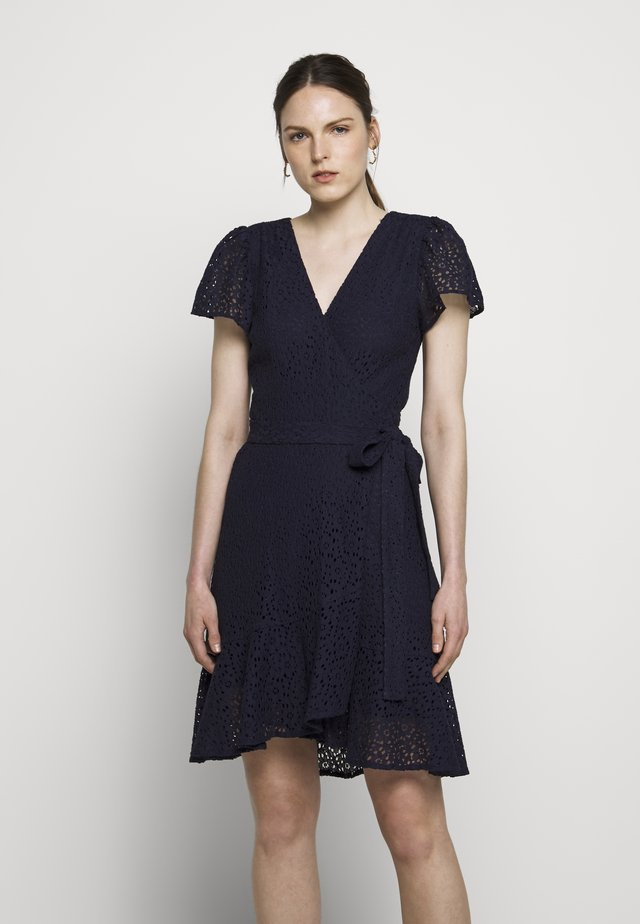 LACE WRAP DRESS - Korte jurk - true navy