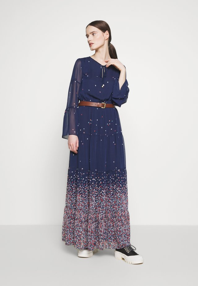 TIER MAXI - Vestido largo - dark blue