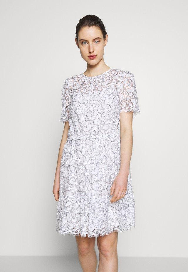 FLOUNCE LACE DRESS - Vestido informal - white