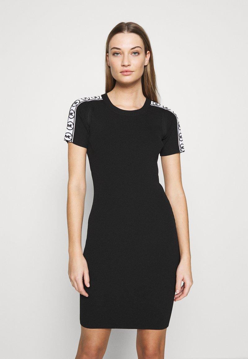 MICHAEL Michael Kors - CIRCLE TAPE DRESS - Pouzdrové šaty - black