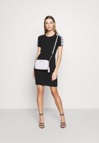 MICHAEL Michael Kors - CIRCLE TAPE DRESS - Pouzdrové šaty - black - 2