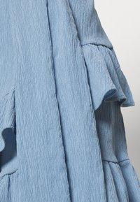 MICHAEL Michael Kors - RUFFLE WRAP DRESS - Hverdagskjoler - blue - 5