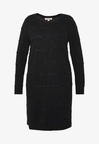 MICHAEL Michael Kors - TINSEL STRIPE DRESS - Pletené šaty - black - 4
