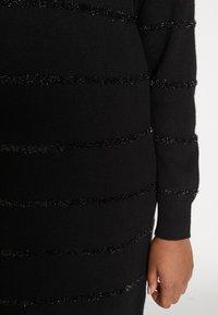 MICHAEL Michael Kors - TINSEL STRIPE DRESS - Pletené šaty - black - 5