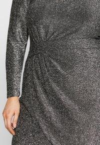 MICHAEL Michael Kors - WRAP - Koktejlové šaty/ šaty na párty - black/silver - 5