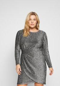 MICHAEL Michael Kors - WRAP - Koktejlové šaty/ šaty na párty - black/silver - 0