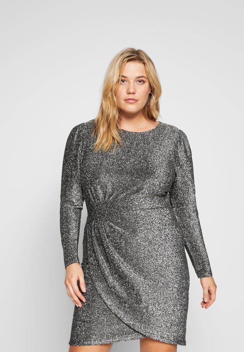 MICHAEL Michael Kors - WRAP - Koktejlové šaty/ šaty na párty - black/silver