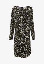 LILIES RUFFLE - Day dress - black/bright dandelion