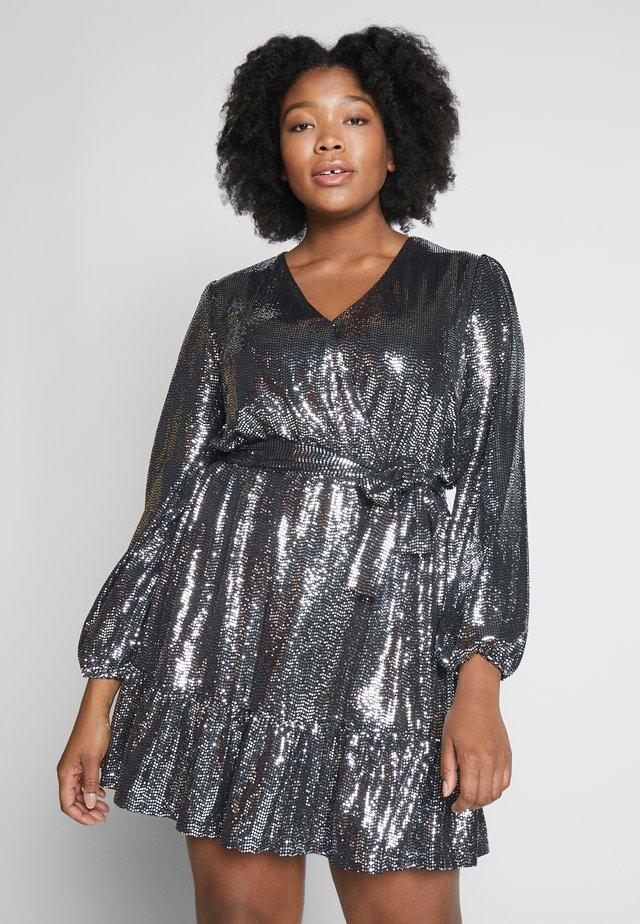 MIROR - Sukienka koktajlowa - black / silver