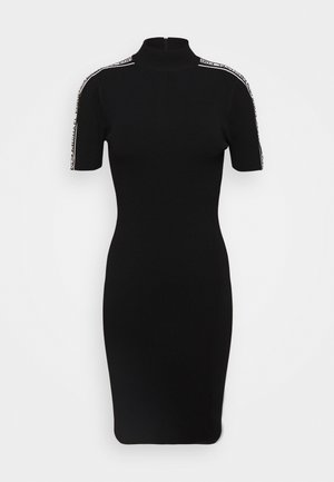 CIRCLE TAPE DRESS - Robe fourreau - black