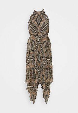 PLEATED HALTER  - Korte jurk - bone