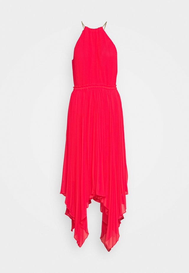 PLEATED HALTER DRESS - Juhlamekko - geranium
