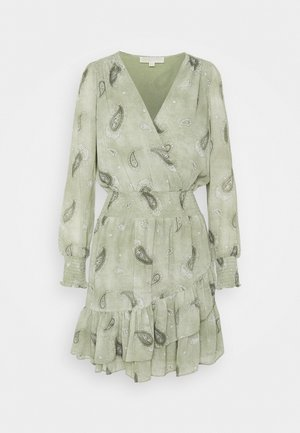 PAISLEY DRESS - Korte jurk - army green