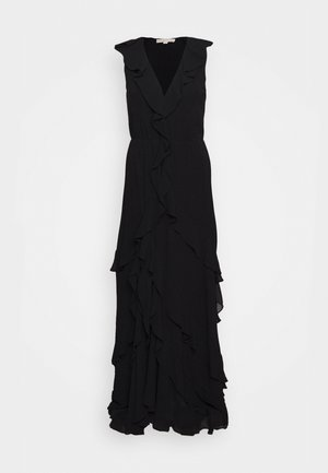 SOLID RUFFLE MAXI - Vestido de fiesta - black