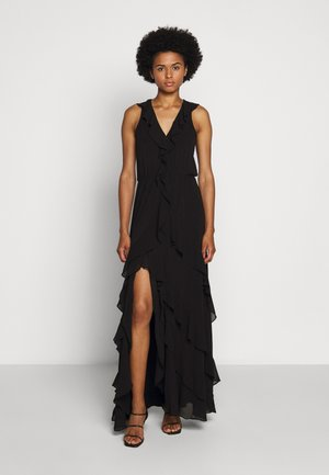 SOLID RUFFLE MAXI - Occasion wear - black