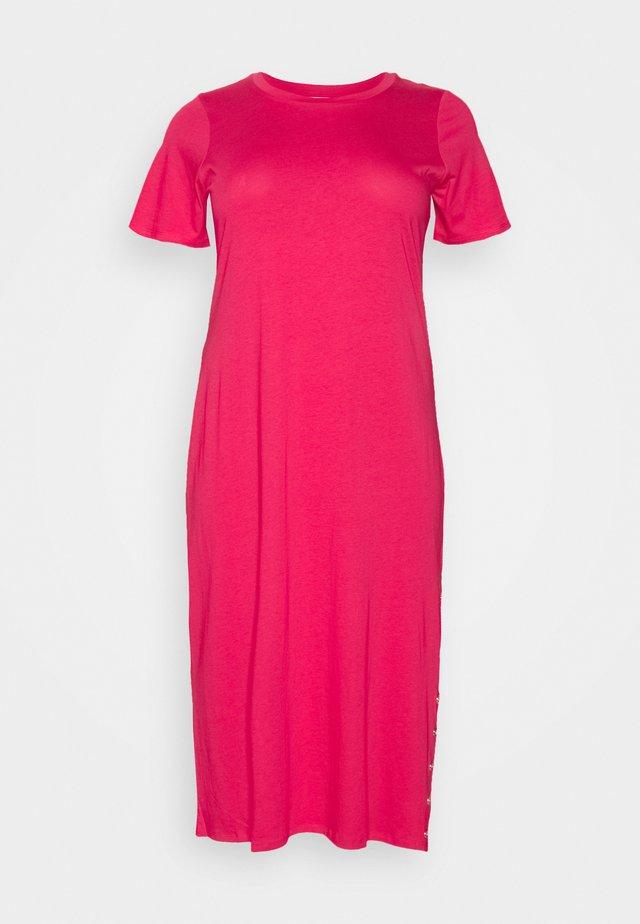 Sukienka z dżerseju - geranium