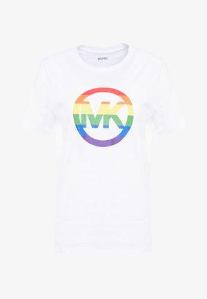 LOGO  - T-shirt con stampa - white
