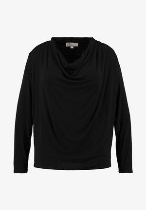 YOKE COWL - T-shirt à manches longues - black