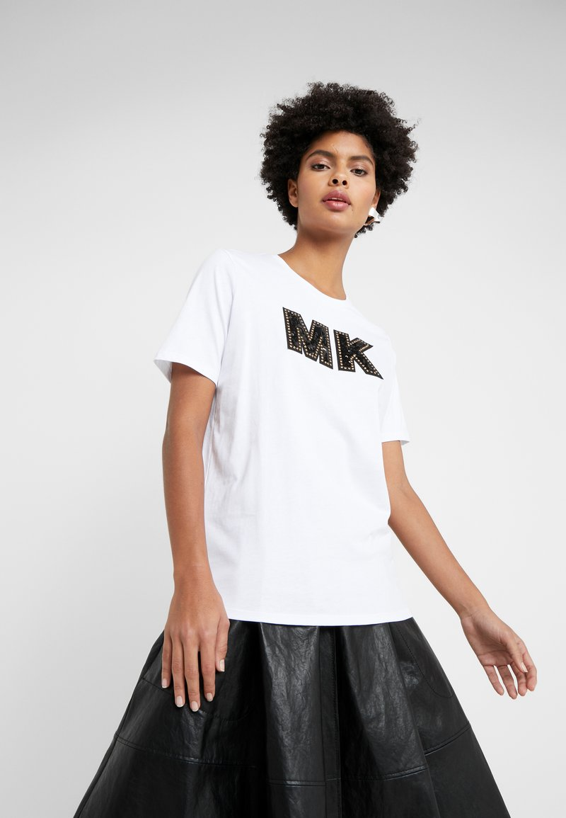 MICHAEL Michael Kors - LOGO PATCH  - T-Shirt print - white