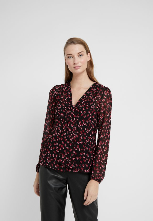 EDEN ROSE NECK TOP - Camicetta - berry