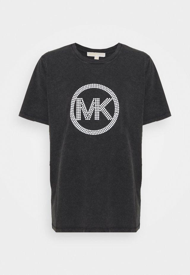 WASH - Print T-shirt - black
