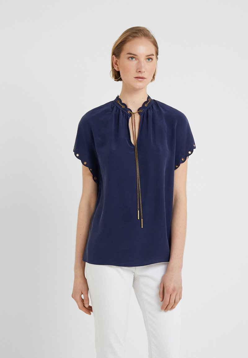 MICHAEL Michael Kors - SCALLOP CHAIN TO - Bluse - true navy