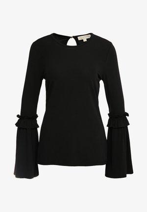 CREW FLARE CUFF - Bluzka z długim rękawem - black