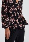 MICHAEL Michael Kors - EDEN ROSE TOP - Bluse - black/dusty rose