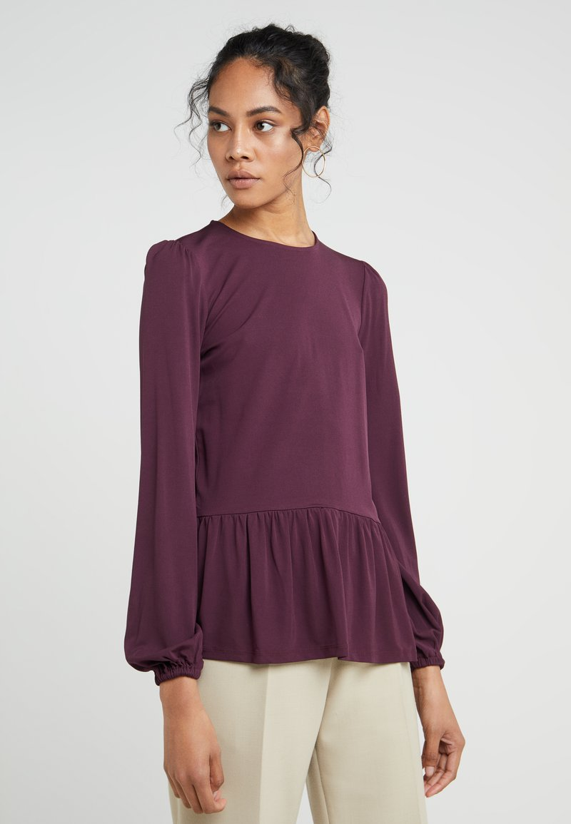 MICHAEL Michael Kors - Long sleeved top - dark purple