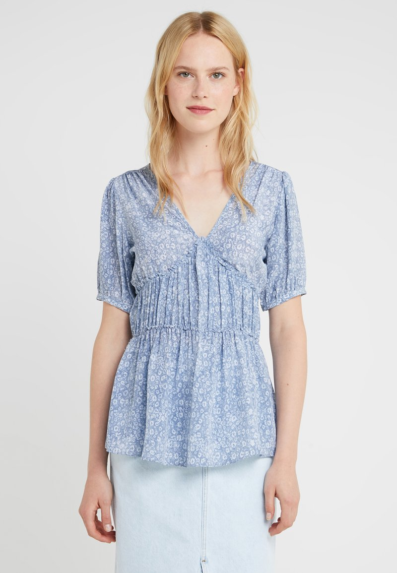 MICHAEL Michael Kors - LIZARD ROUCHED - Bluse - chambray