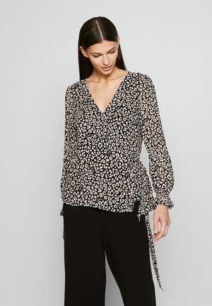 LUX CAT WRAP - Blouse - black / bone