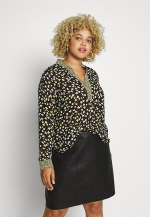 MIX PRINT POPOVER - Blůza - black