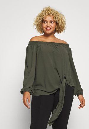 TIE FRONT OFF TOP - Blouse - ivy