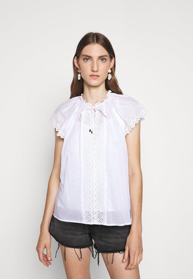 SMOCKED EYELET - Blouse - white