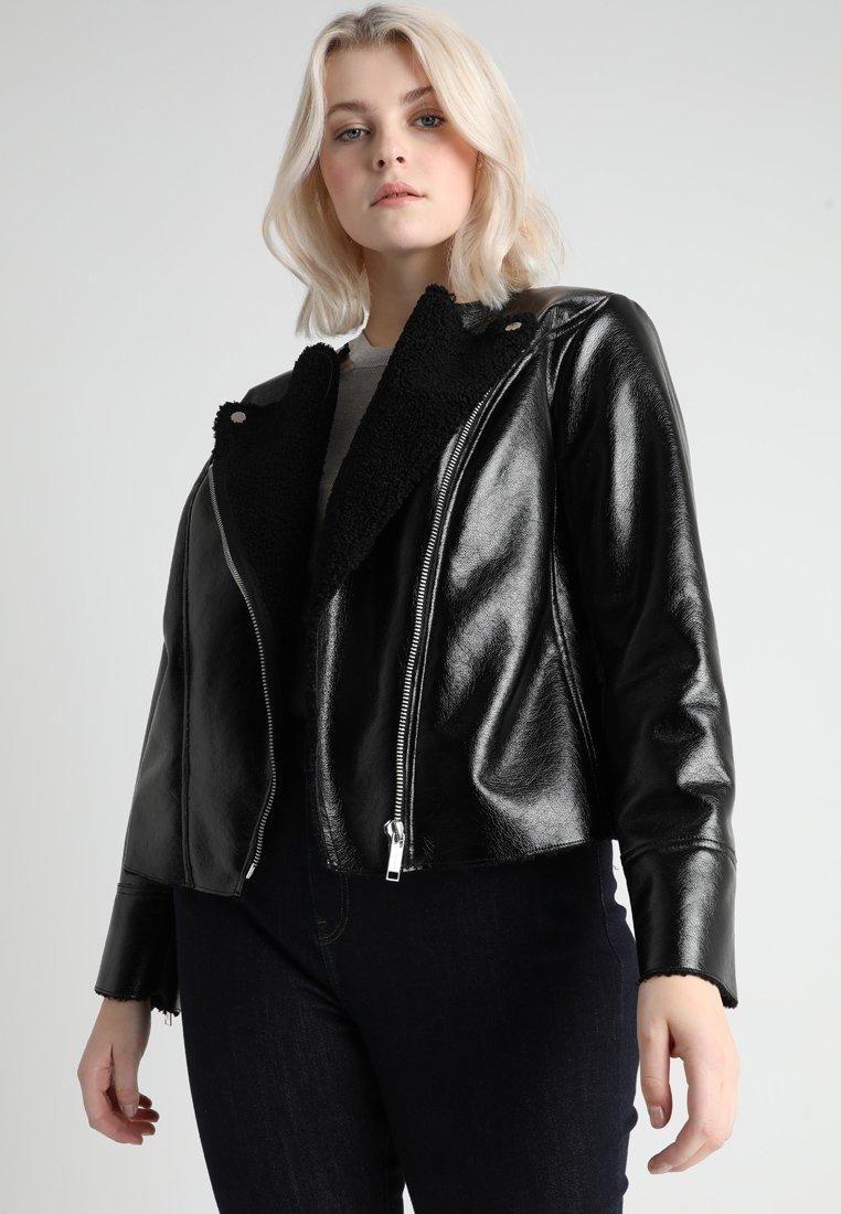 MICHAEL Michael Kors - PLUS JACKET - Faux leather jacket - black