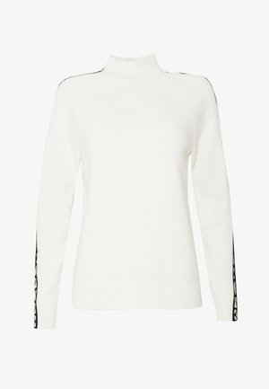 TRIM TURTLE NECK - Strikkegenser - white