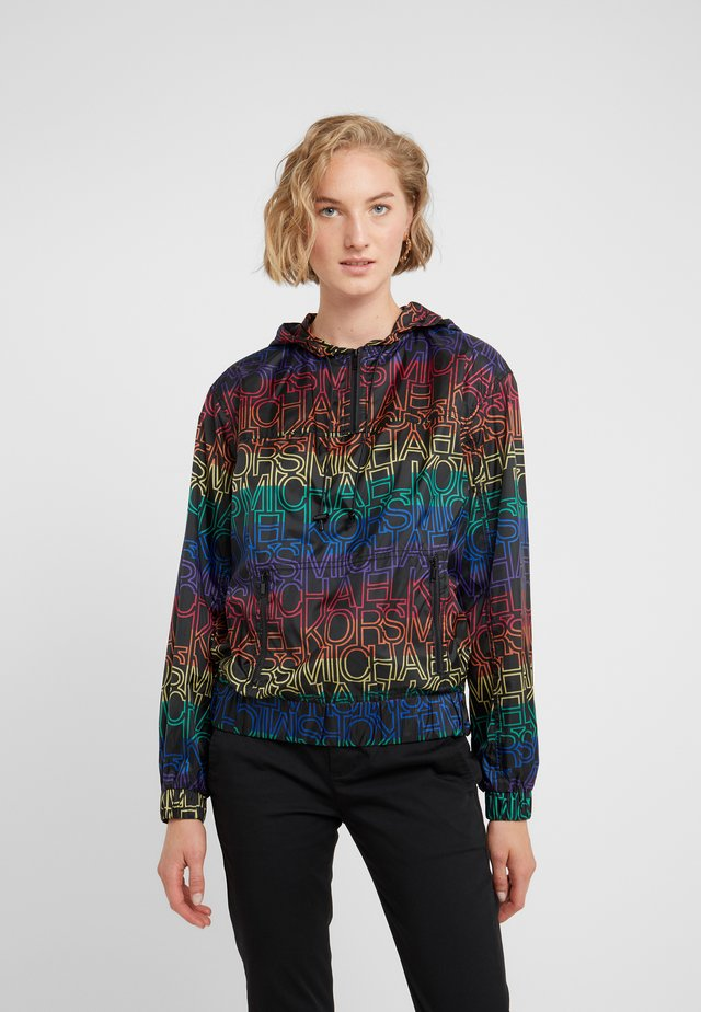 RAINBOW POPOVER - Tunn jacka - black/multi-coloured