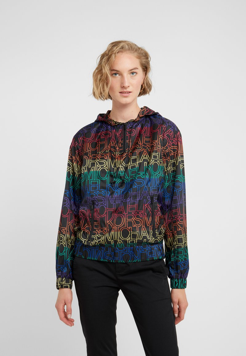 MICHAEL Michael Kors - RAINBOW POPOVER - Veste légère - black/multi-coloured