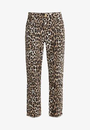 CHEETAH CROPD DRAIN - Jeans slim fit - dark camel