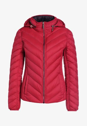 SHORT PACKABLE PUFFER - Doudoune - red