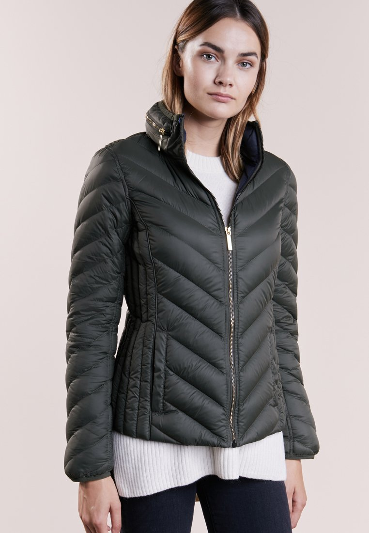 MICHAEL Michael Kors - SHORT PACKABLE PUFFER - Daunenjacke - dark olive